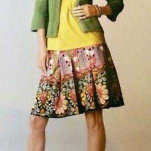 CABI floral pleaded skirt - 4
